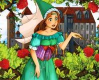 Cartoon fairy tale scene - sorceress Royalty Free Stock Photo