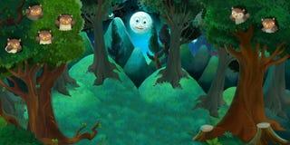 Cartoon fairy tale stage Stock Image