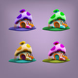 Cartoon fairytale houses. Royalty Free Stock Photography