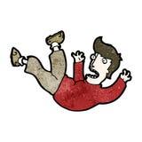 Cartoon falling man Stock Image