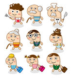 Cartoon family Stock Photos