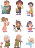 Cartoon family Stock Image