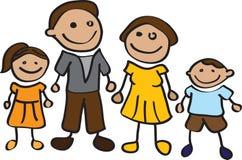 Cartoon family Royalty Free Stock Photography