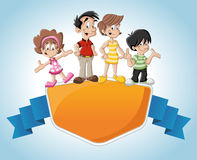 Cartoon family Stock Image