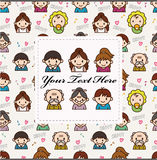 Cartoon family card Royalty Free Stock Photo