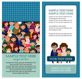 Cartoon family card Stock Photo