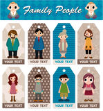 Cartoon family card Royalty Free Stock Photography