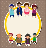 Cartoon family card Royalty Free Stock Images