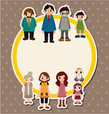 Cartoon family card Stock Photos