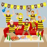 Family with football party Royalty Free Stock Photo