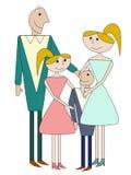 Cartoon family Stock Photos