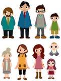 Cartoon family icon Stock Images
