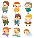 Cartoon family icon Stock Image