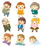 Cartoon family icon Stock Image