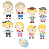 Cartoon family icon Royalty Free Stock Image