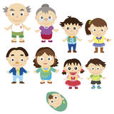 Cartoon family icon Royalty Free Stock Photos