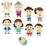 Cartoon family icon Royalty Free Stock Photos