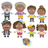 Cartoon family icon Royalty Free Stock Images