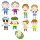 Cartoon family icon Stock Photos