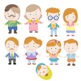 Cartoon family icon Royalty Free Stock Image