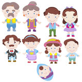 Cartoon family icon Royalty Free Stock Photography