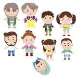 Cartoon family icon Royalty Free Stock Images