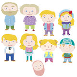 Cartoon family icon Stock Photos