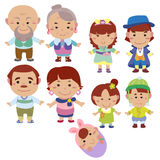 Cartoon family icon Royalty Free Stock Photo