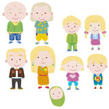Cartoon family icon Stock Photography