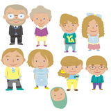 Cartoon family icon Stock Images