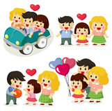 Cartoon family icon set Royalty Free Stock Image