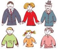 Cartoon family icons Stock Image