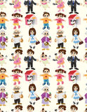 Cartoon family seamless pattern Royalty Free Stock Photography