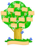 Cartoon family tree vector Royalty Free Stock Image