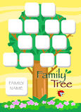 Cartoon family tree vector Royalty Free Stock Photography