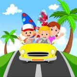 Cartoon family vacation. Illustration of Cartoon family vacation Royalty Free Stock Photos