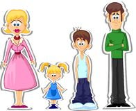 Cartoon family,vector Royalty Free Stock Photos