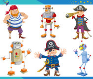 Cartoon Fantasy Characters Set Stock Photography