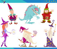 Cartoon Fantasy Characters Set Royalty Free Stock Photography
