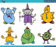 Cartoon fantasy characters set Stock Photos