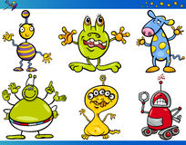 Cartoon Fantasy Characters Set Stock Images