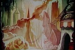 Cartoon of fantasy dream world stock footage