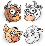 Cartoon farm Royalty Free Stock Photo