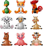 Cartoon farm animal collection set Royalty Free Stock Photography