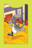 Cartoon farm animal - mouse Royalty Free Stock Photos