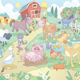 Cartoon Farm animals Stock Image