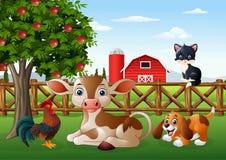 Cartoon farm animals vector illustration