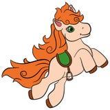 Cartoon farm animals for kids. Little cute pony. Stock Photography