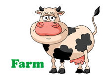 Cartoon farm cow Stock Photos
