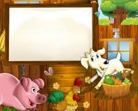 Cartoon farm - illustration for the children Stock Image